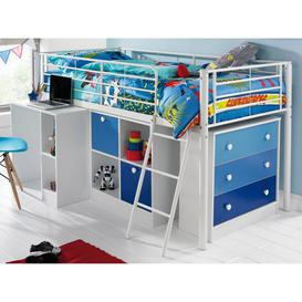image-Mezzo Kids Mid Sleeper Bed with Storage