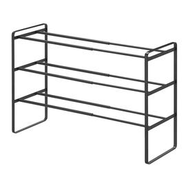 image-Yamazaki - Frame Three Tier Extendable Shoe Rack - Black