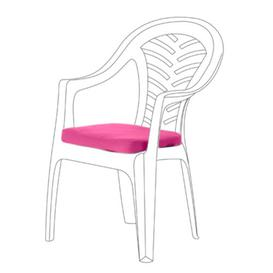 image-Resol Palma Garden Dining Chair Cushion Dakota Fields Colour: Pink