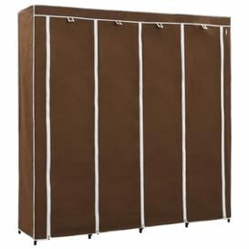 image-4 Door Wardrobe Symple Stuff Colour: Brown