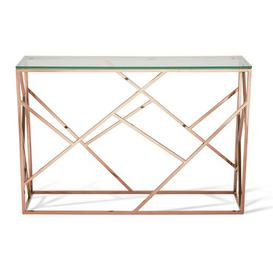 image-Occasional Console Table Canora Grey Colour: Rose Gold