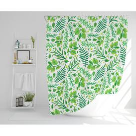 image-Easingwold Polyester Shower Curtain Set August Grove Size: 177cm H x 177cm W