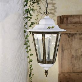 image-Nelle 1-Light Outdoor Hanging Lantern August Grove Outline colour: White