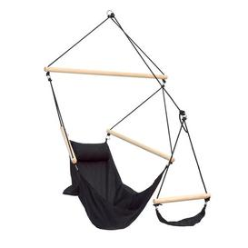 image-Ivan Hanging Chair Freeport Park Colour: Black