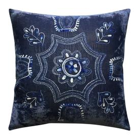 image-William Yeoward - Frida Cushion - 50x50cm - French Navy