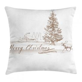 image-Skeggi Christmas Vintage Xmas Outdoor Cushion Cover Ebern Designs Size: 40cm H x 40cm W