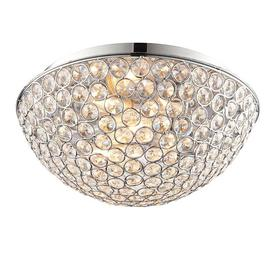 image-Endon 60103 Chryla Crystal Bathroom Ceiling Flush Light IP44
