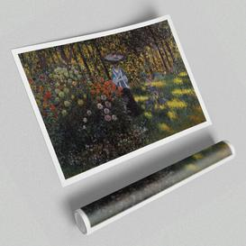 image-'Monet Woman with A Parasol in The Garden of Argenteuil' - Unframed Graphic Art Print on Paper East Urban Home Size: 59.4 cm H x 84.1cm W