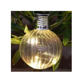image-Bright Garden Solar Glass Bulb Light - Clear