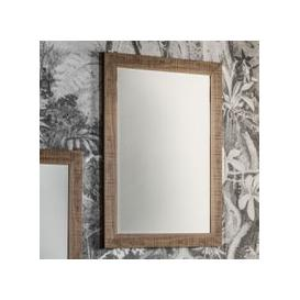 image-Gallery Direct Deacon Large Rectangular Mirror - Oak 71cm x 99cm