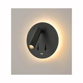 image-Barneys 2-Light LED Wall Spotlight Ebern Designs