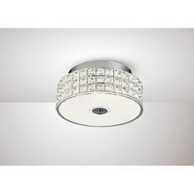image-Diyas IL80020 Hawthorne LED Small Round Flush Ceiling Light In Chrome - Dia: 280mm