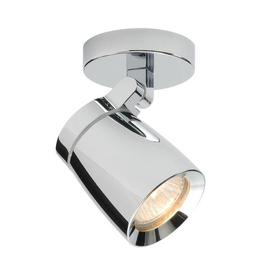 image-Saxby 39166 Knight 1 Light Bathroom Chrome Ceiling Spotlight
