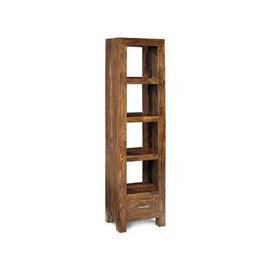 image-Cube Sheesham Slim Jim Bookcase Unit