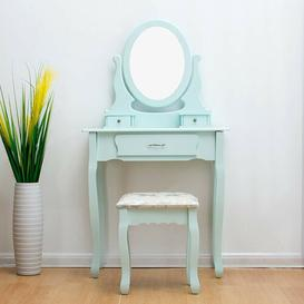 image-Dressing Table Set with Mirror Lily Manor Colour: Duck Egg