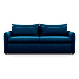 image-Heal's Pillow 4 Seater Sofa Smart Velvet Blue Chestnut Stain Feet