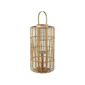 image-Glass and Bamboo Lantern H65