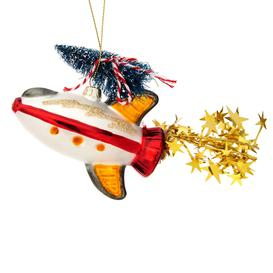 image-Sass & Belle Rocket With Christmas Tree Shaped Bauble