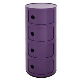 image-Side Table with Storage Symple Stuff Colour: Purple