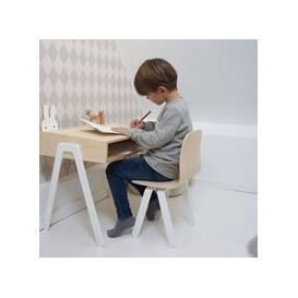 image-Large Children's Desk and Chair  - White