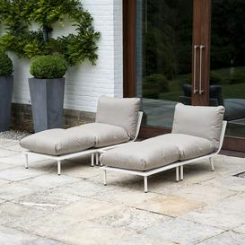 image-Alexander Rose Beach Garden Shell 2 Modular Loungers With Side Table