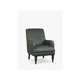 image-John Lewis & Partners Sterling Leather Armchair, Dark Leg