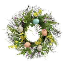 image-Argos Home Faux Floral Egg Wreath