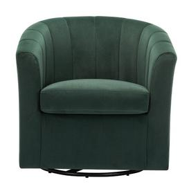 image-Toombs Swivel Tub chair Canora Grey Upholstery Colour: Green