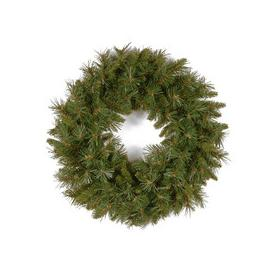 """image-Tiffany Fir PVC Artificial Christmas Wreath 24"""" by National Trees"""