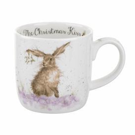 image-Wrendale Designs Christmas Kiss Bone China Mug Royal Worcester