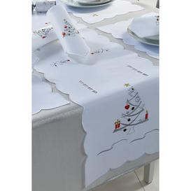 image-14-Piece Silver Christmas Tree Table Set