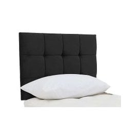 image-Millbrook - Hythe Strutted Headboard - Single - Black