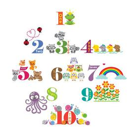 image-Children Home Animals Numbering Wall Sticker East Urban Home