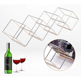 image-Deming 11 Bottle Tabletop Wine Bottle Rack in Copper