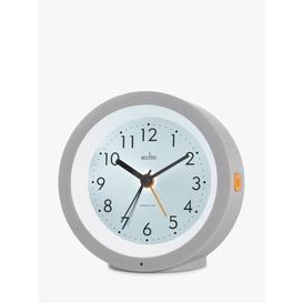 image-Acctim Elliot Modern Smartlite Silent Sweep Analogue Alarm Clock, Grey