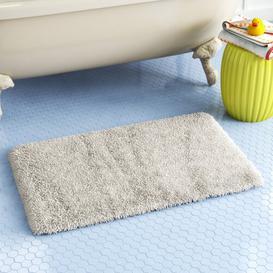 image-Bath Mat Wayfair Basics Colour: Silver, Size: 100 cm W x 60 cm D