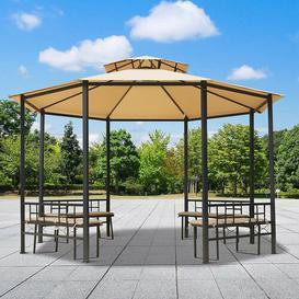 image-Barclay 3.8m x 3.8m Steel Patio Gazebo Sol 72 Outdoor