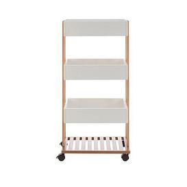 image-Premier Housewares Nostra 4 Tier Storage Trolley