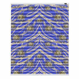 image-Blackout Pleated Blind POMPÖÖS by Lichtblick Size: 132cm L x 10cm W, Colour: Blue