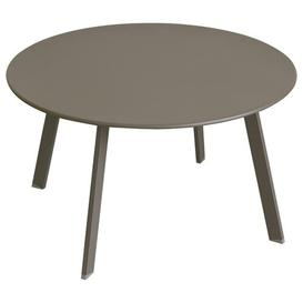 image-Ayda Steel Side Table Sol 72 Outdoor Colour: Brown, Size: 40cm H x 70cm W x 70cm D