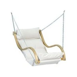 image-Amazonas Wooden Hanging Fat Chair - Creme