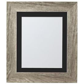 image-Natur Pur Hygge Picture Photo Frame, Plastic Glass, Grey Ash With Ivory Mount, 10 X 8 Inches Image Size A5 Natur Pur Colour: Grey Ash/Black, Size: 34.