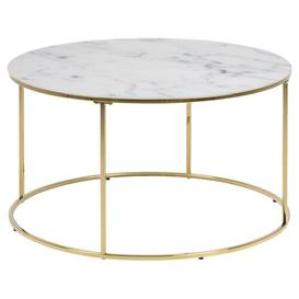 image-Dolphin Coffee Table Fairmont Park Frame colour: Gold