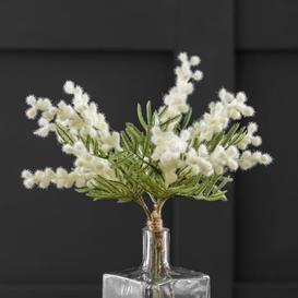 image-Artificial Mimosa Bundle Cream 38cm Off-White
