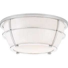 image-QZ/CHANCE/FPC Chance 2 Light Bathroom Flush Ceiling Light In Polished Chrome