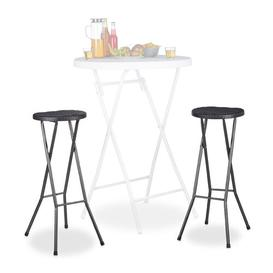 image-Jaydon 80cm Bar Stool Sol 72 Outdoor Frame Finish: Black