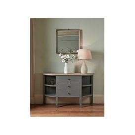 image-Rounded Storage Console Table