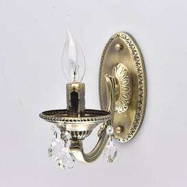 image-Classic 1-Light Candle Wall Light Astoria Grand