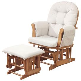 image-Kub Haywood Glider Nursing Chair and Footstool, Natural
