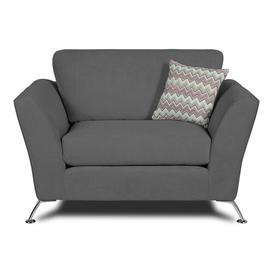 image-Uttoxeter 2 Seater Loveseat Sofa Sofa Factory Upholstery Colour: Pewter